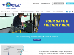 Tri-Valley Transit Website Preview